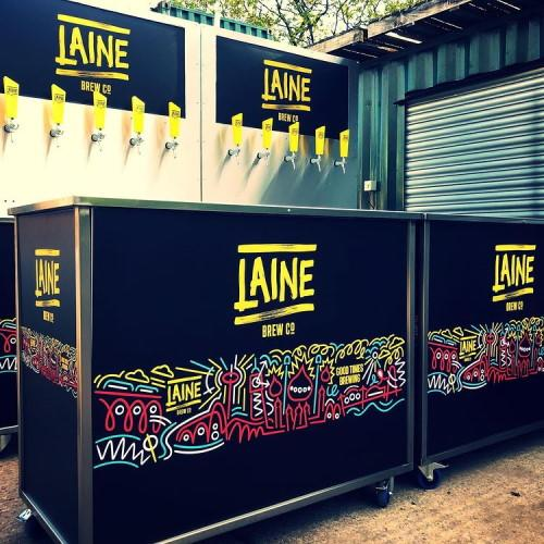 Laine brew co mobile bar tap wall