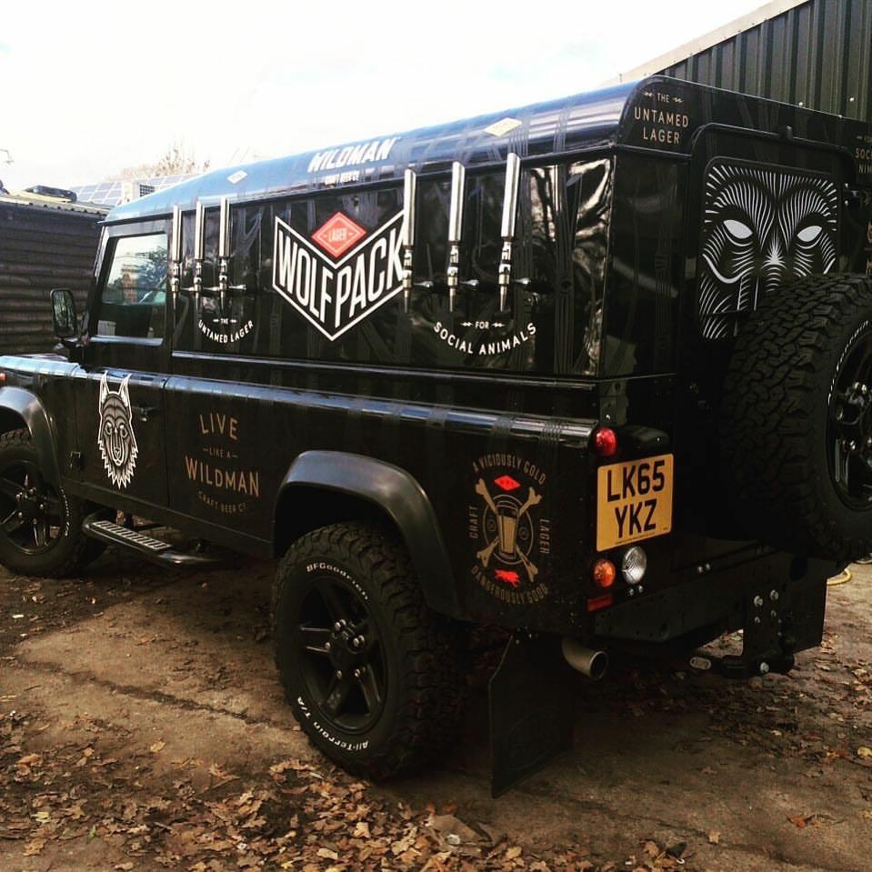 Wolfpack Lager Landrover bar conversion Morepour