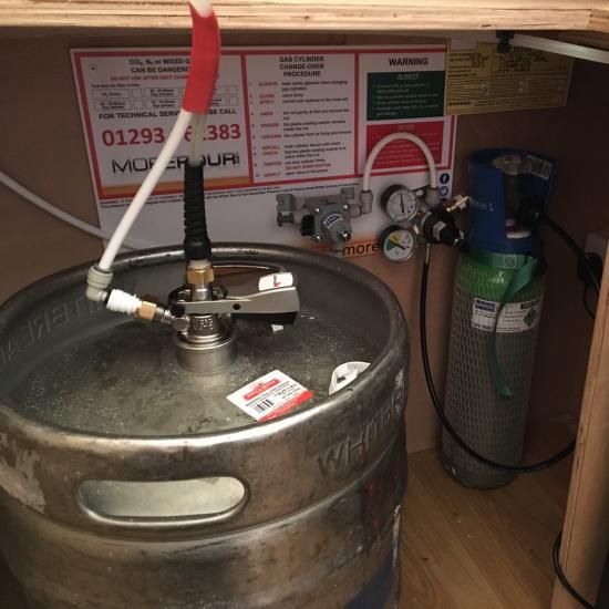Keg beer tap at home