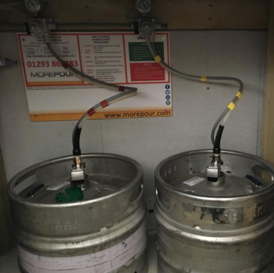 Draught beer keg home bar installation
