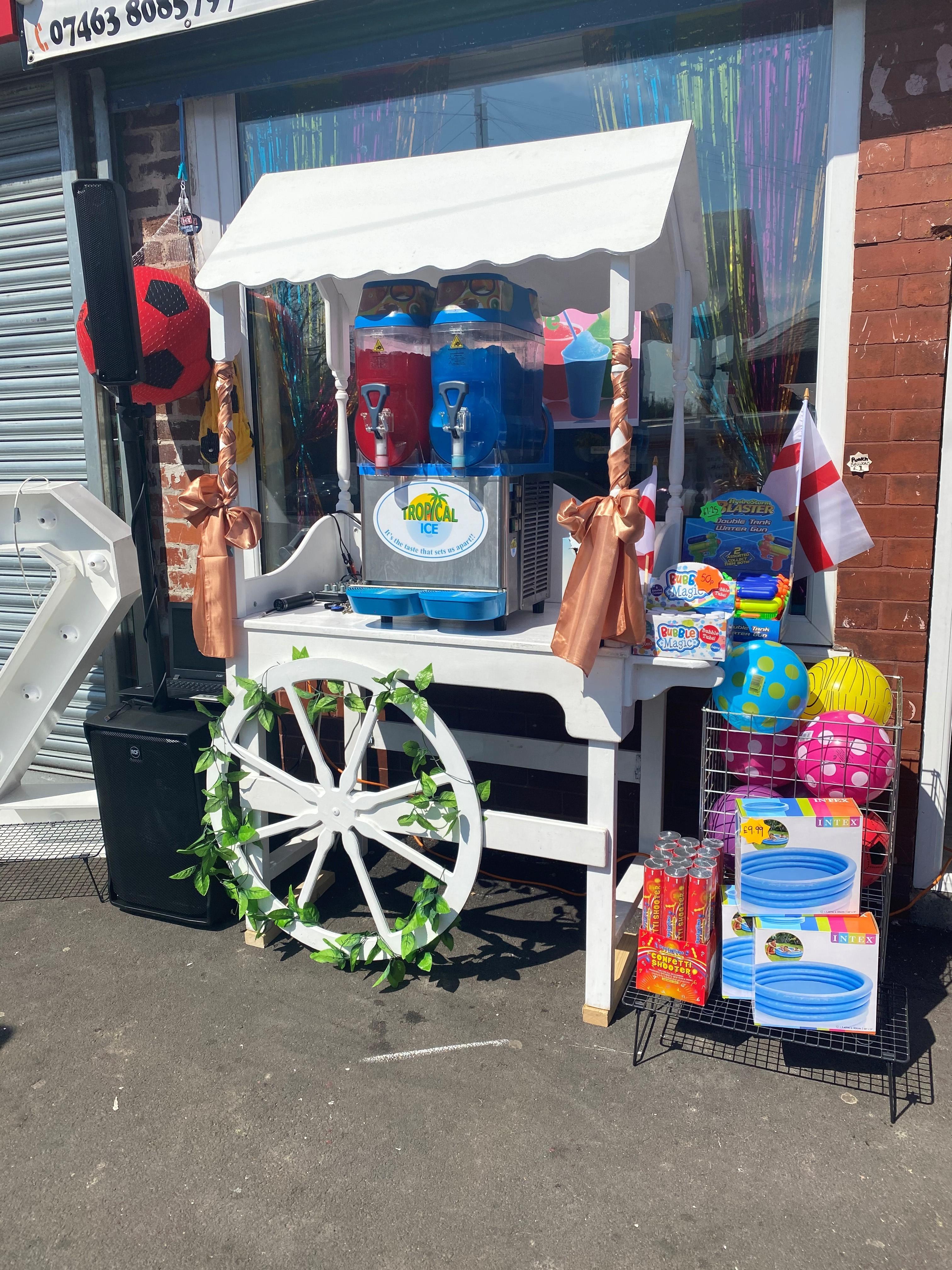 Our Candy Cart & Slush Machine