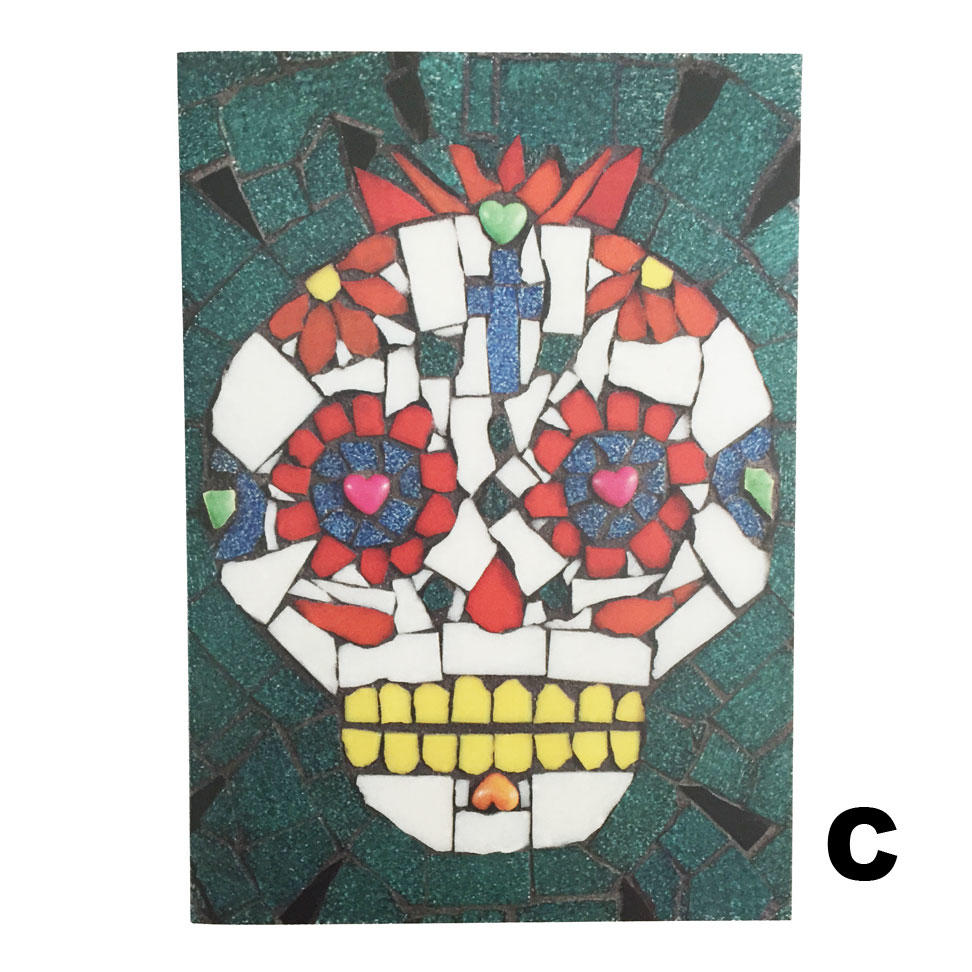 Juan Is Dead Greetings Card - Candy Skull