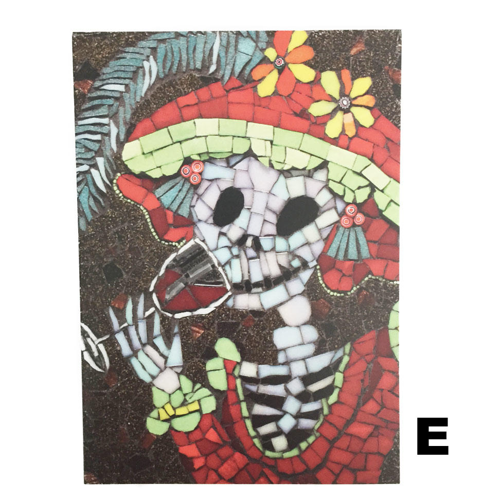 Juan Is Dead Greetings Card - Skeleton drinking wine