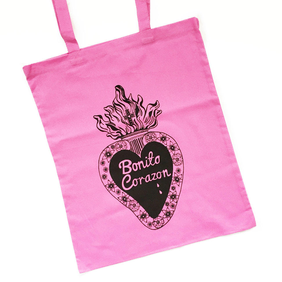Pretty Heart Tote Bags - Pink