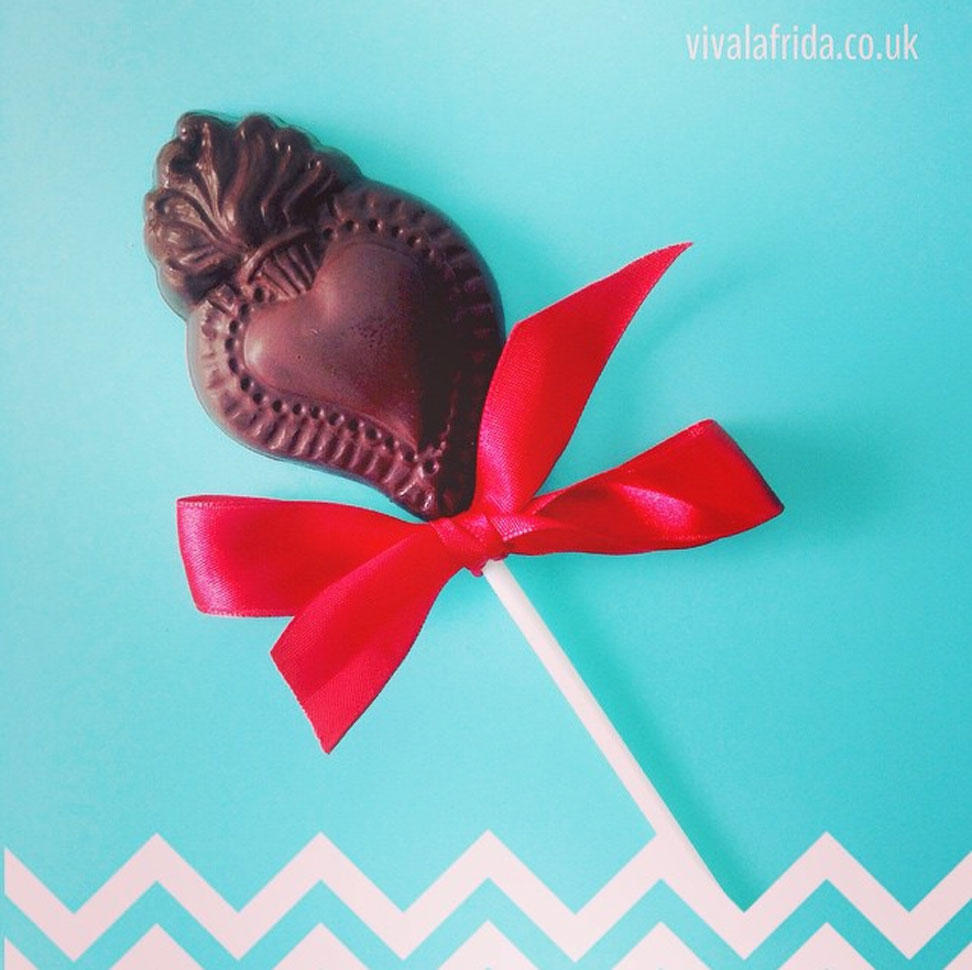 Chocolate Flaming Heart Lolly