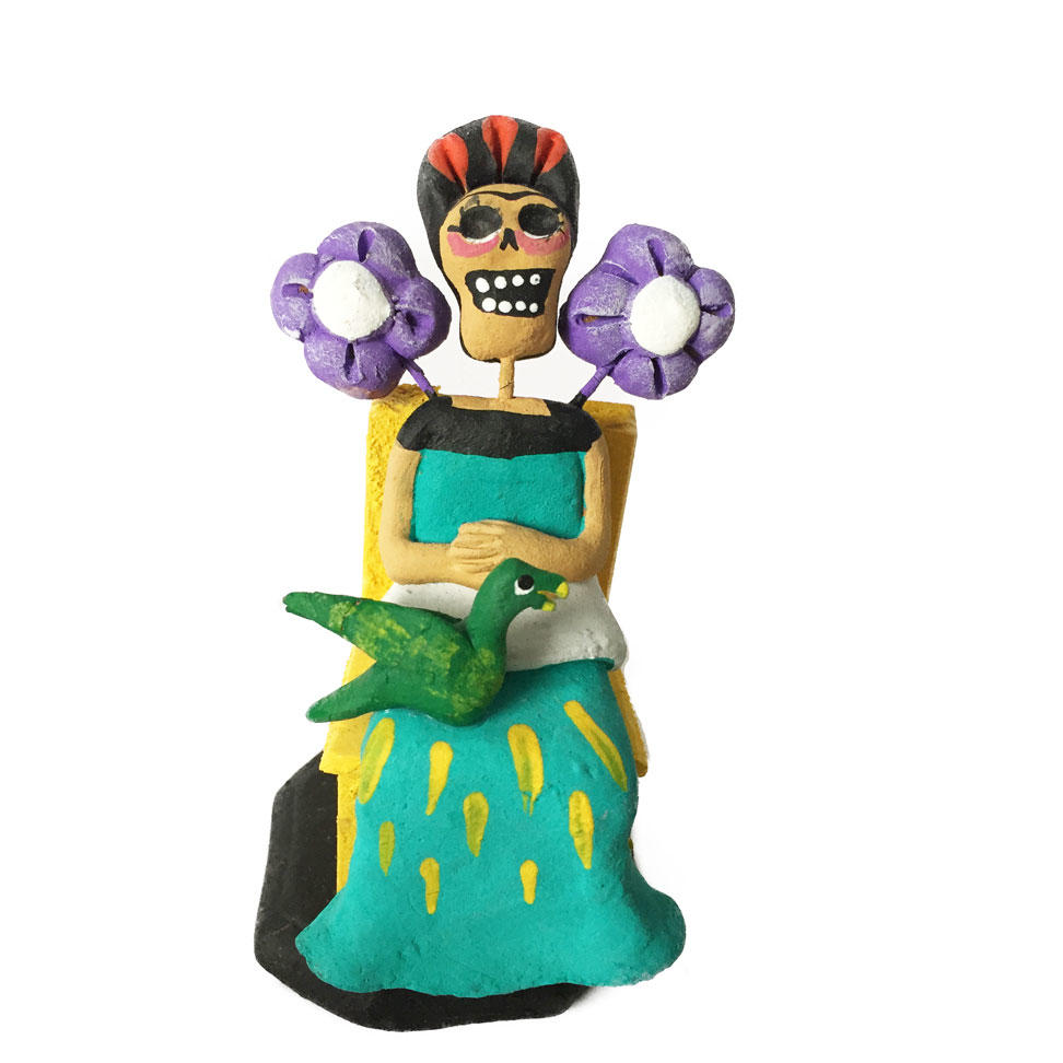 Day of the Dead Ceramic Frida Kahlo Ornament
