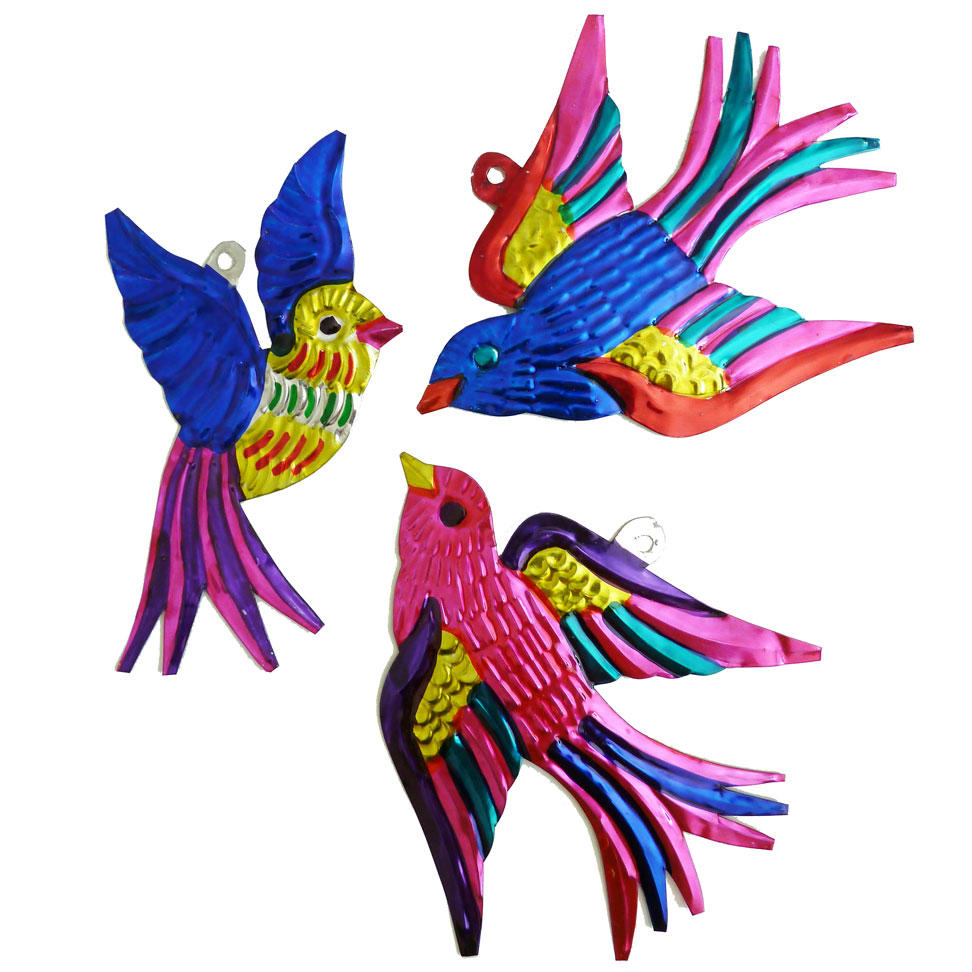 Mexican Painted Tin Birds