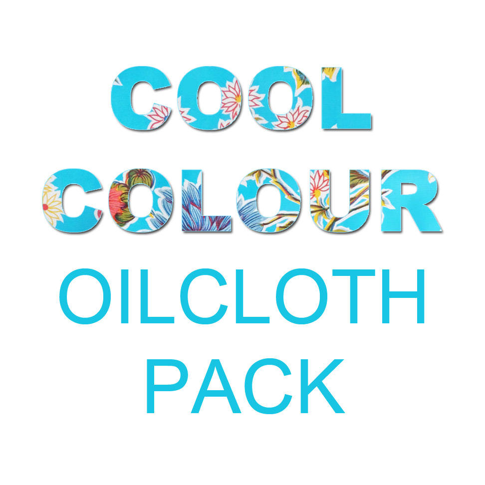 Image saying Cool Colour Oilcloth Craft Pack