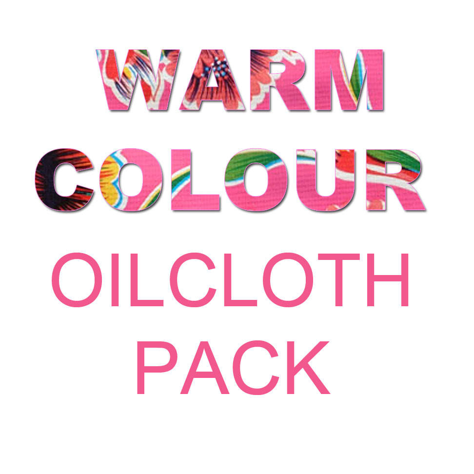 Image saying Warm Colour Oilcloth Pack