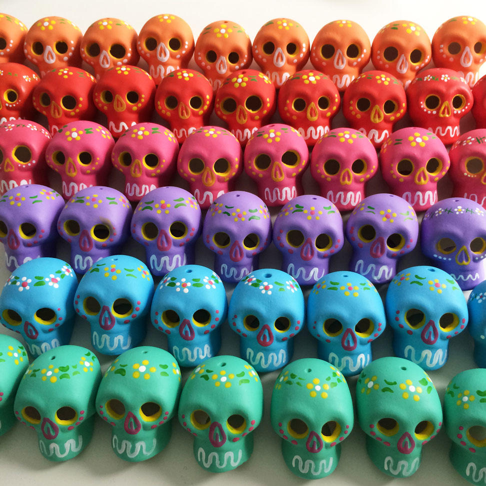 Colourful Ceramic Skulls from Mexico