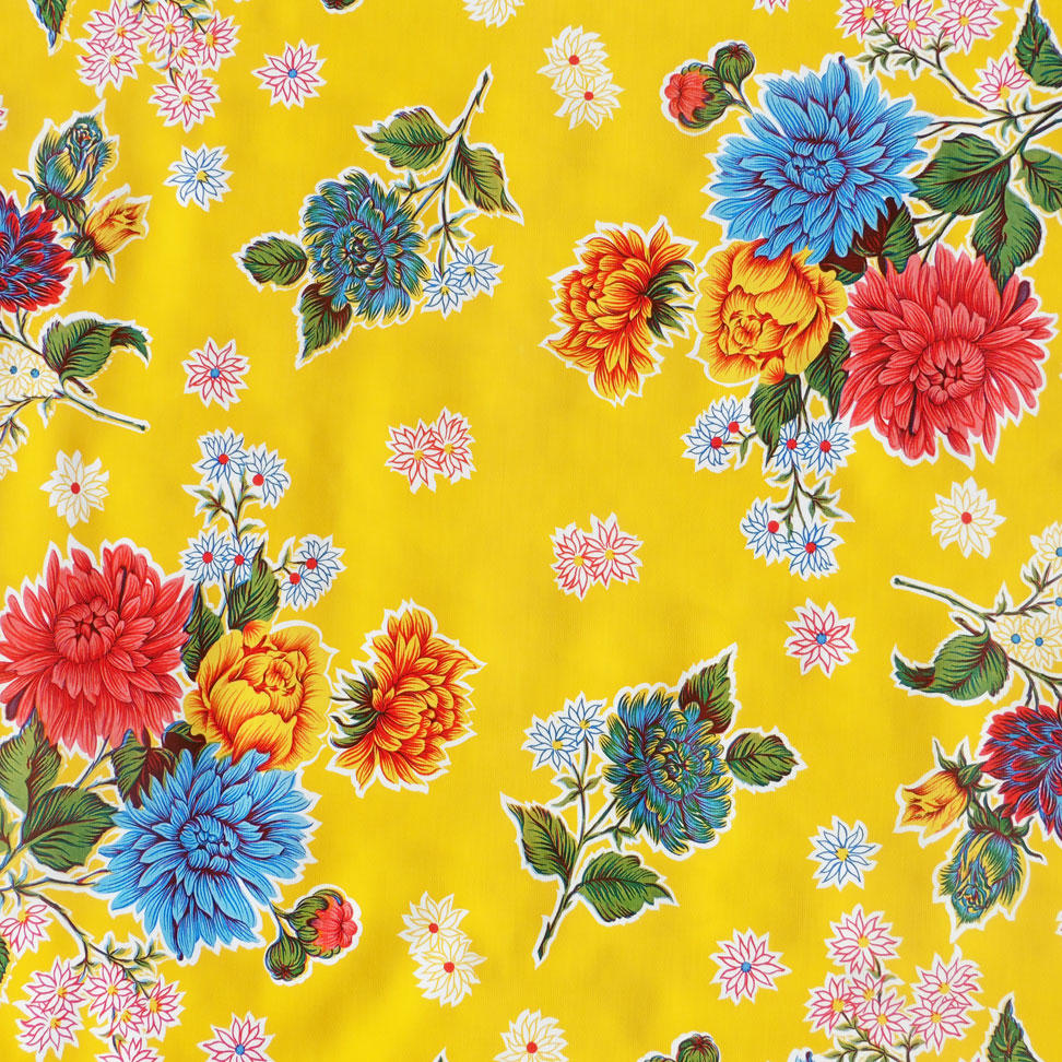 Yellow Chrysanthemum Oil cloth