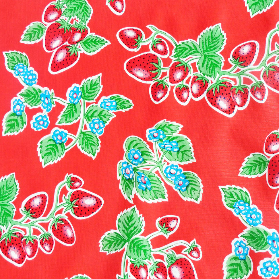 Red Strawberry Oil cloth