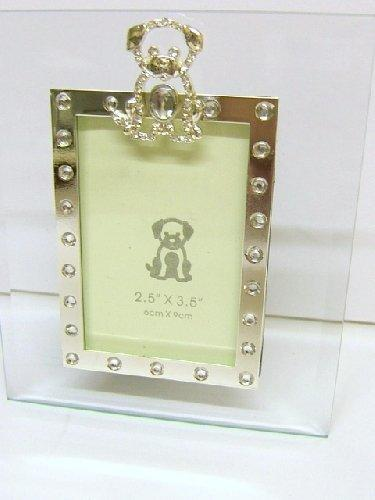 Puppy Dog Glass Jewelled Photo Frame