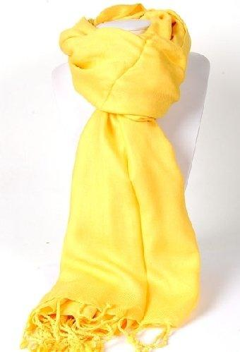 Pashmina Shawl in Bright Yellow