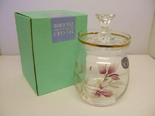 Bohemia Crystal Iris Honey Jar
