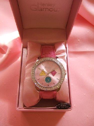 Ladies Pink Diamante Henley Glamour Fashion Watch