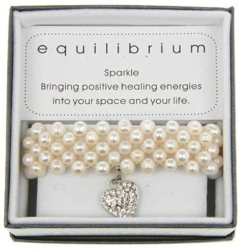 Equilibrium Bracelet Fresh Water Pearls with Silver Heart