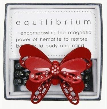 Equilibrium Bracelet Butterfly Red