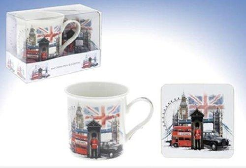 London Scene Mug and Square Coaster Set