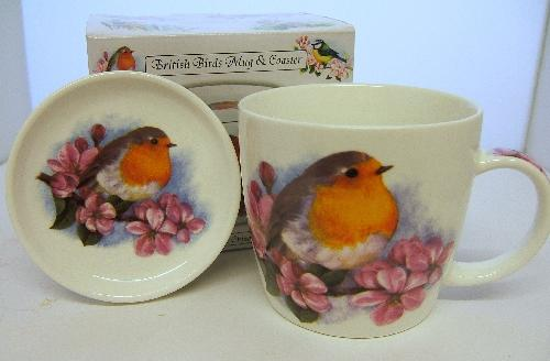 British Birds Robin Mug and Coaster