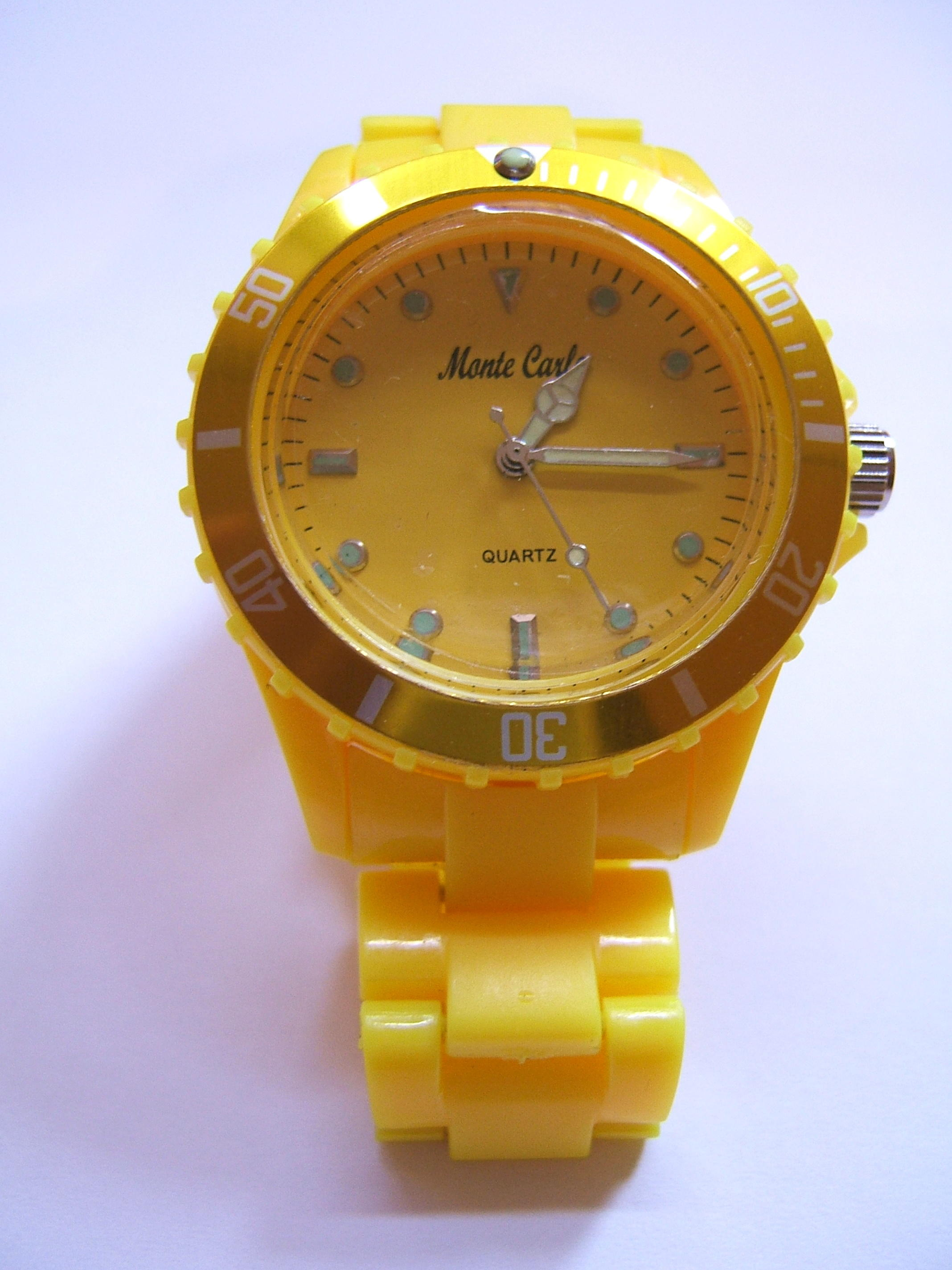Monte Carlo Unisex Fashion Watch Yellow