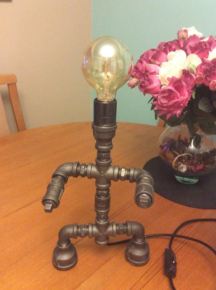 Industrial Retro Steel Pipe Table/Desk Lamp Man of Steel