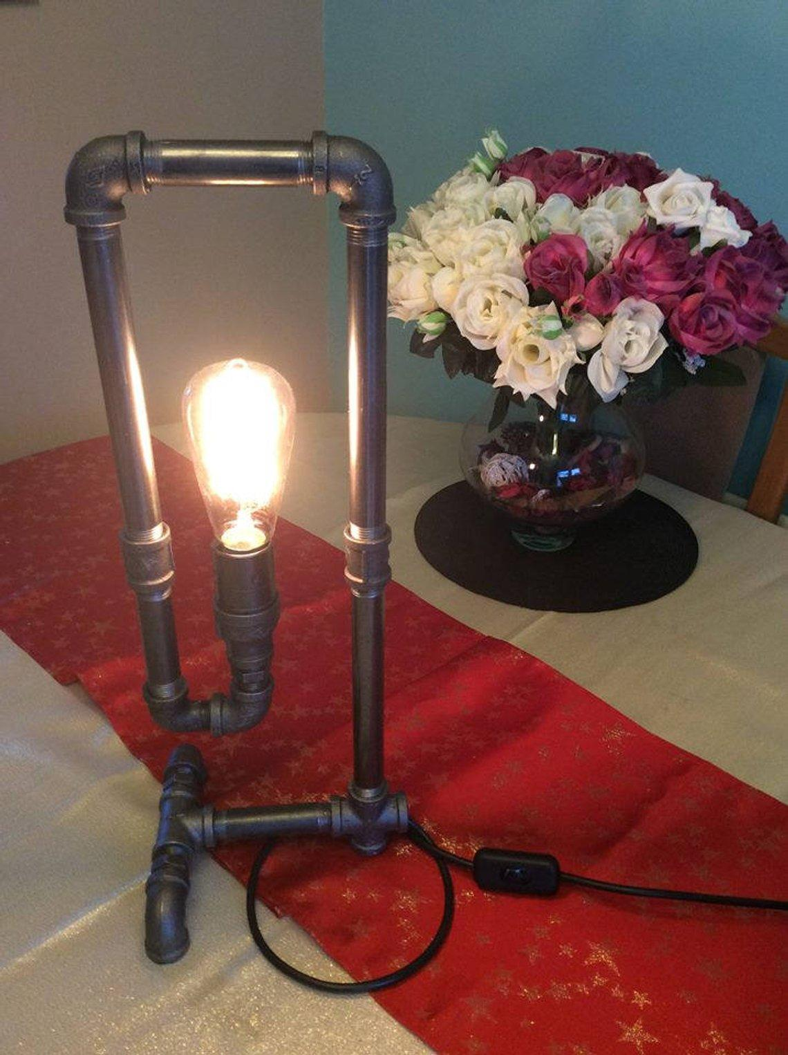 Industrial Retro Steel Pipe Table/Desk Lamp Zenith Steampunk Edison Lamp