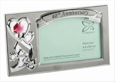 40th Anniversary Crystocraft Photo Frame