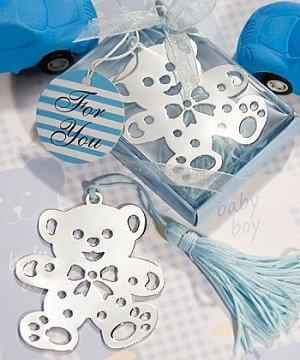 Baby Favour Bookmark Teddy Bear Blue Book Lovers Collection