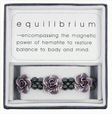 Equilibrium Bracelet Jewel Purple Flowers