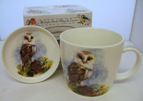 British Birds Barn Owl Mug and Coaster