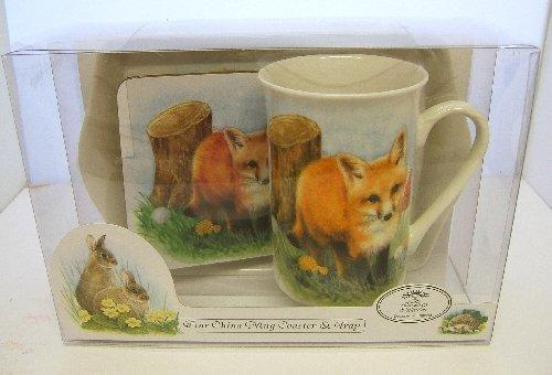 Mug Tray and Coaster Set Wildlife Fox