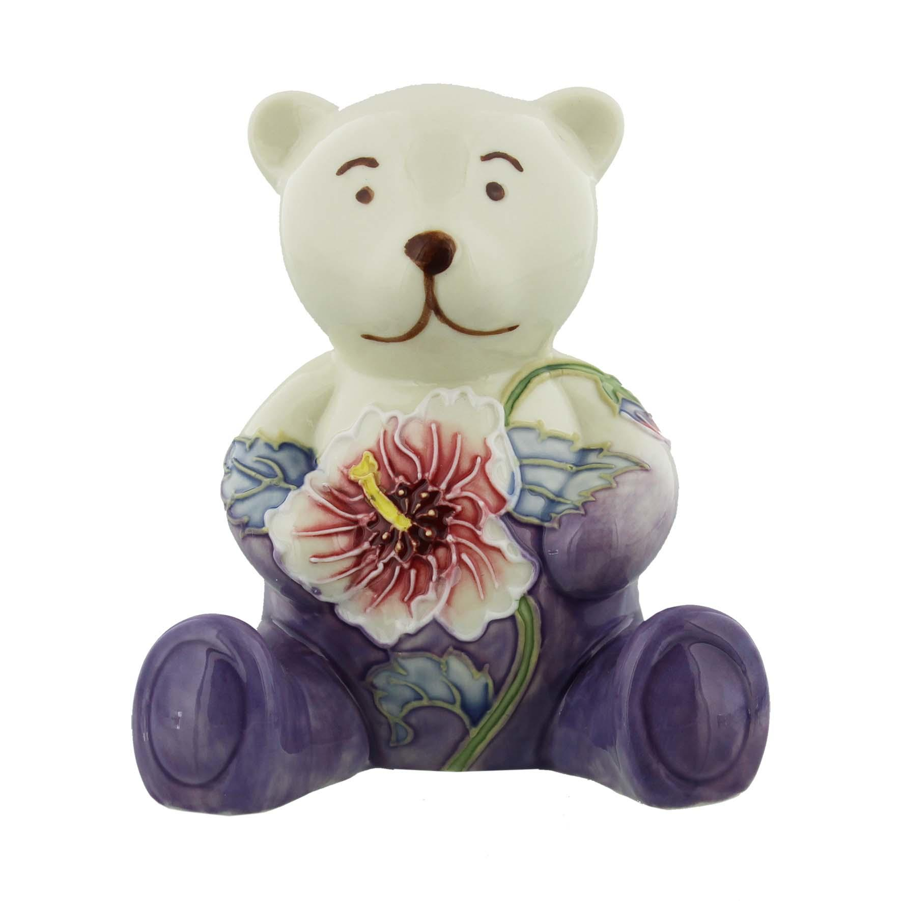 Old Tupton Ware Bear with Hibiscus Design