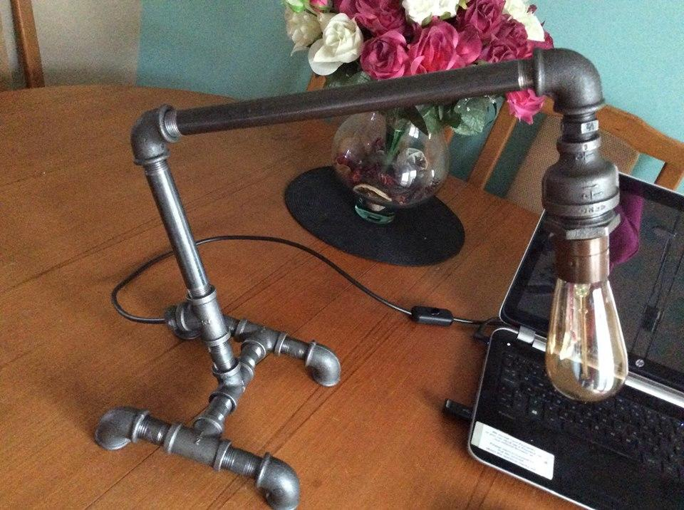 Industrial Steel Pipe Table Lamp - Avenger