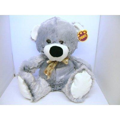 Paws Silver Grey and White Teddy Bear - 76412