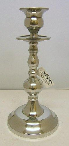 Candle Holder Silver Metal Ornate 21cm Tall