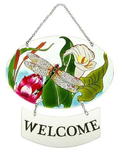 Lily Pond Collection Suncatcher Welcome Sign