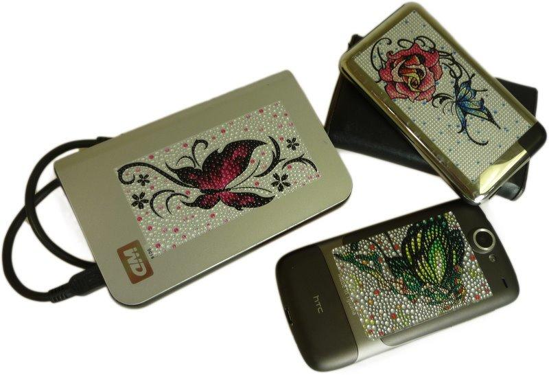 Jewellery Sticker Butterfly and Red Rose Mobile Phone