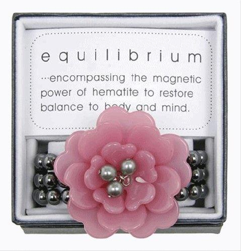 Equilibrium Bracelet Acrylic Pink Flower with Beads