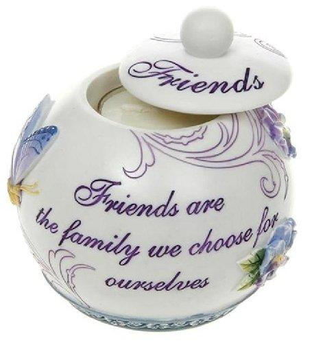 Tealight Candle Holder 9cm x 9cm Pretty Pansy Friends