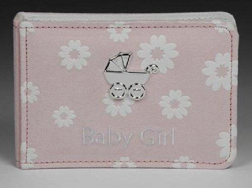 A Pink Suede Baby Girl Daisy Design Photo Album