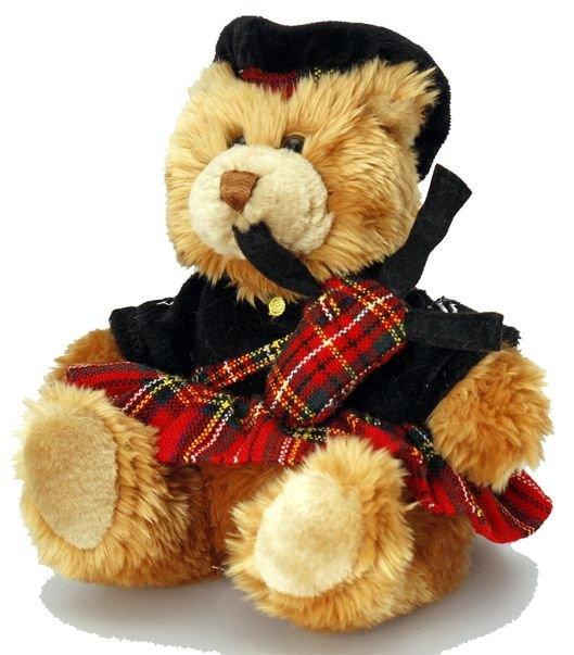 Souvenir Teddy Bear 19cm Scottish Piper - SL4153