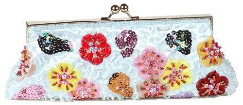 Evening Bag Blue Floral