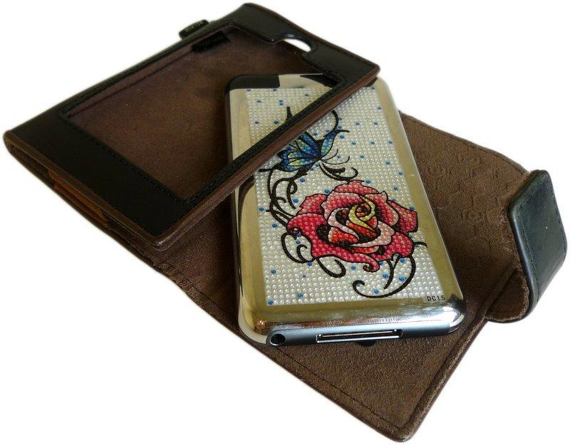 Jewellery Sticker Butterfly and Red Rose Laptop