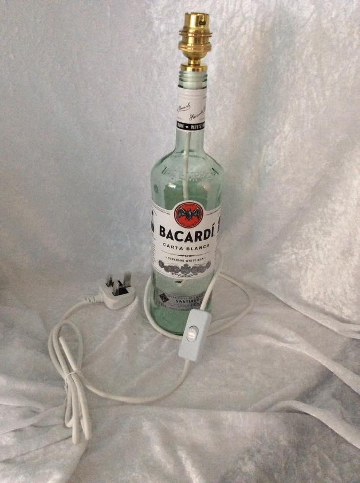 Bacardi Rum Bottle Lamp Wired
