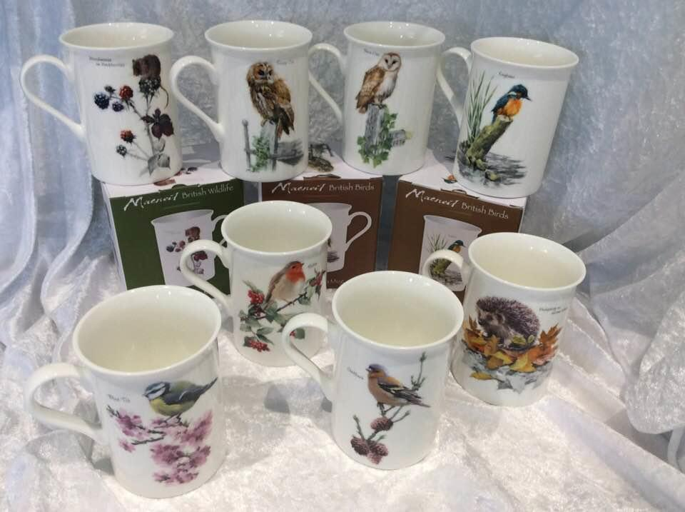 British Wildlife Fine China Mugs