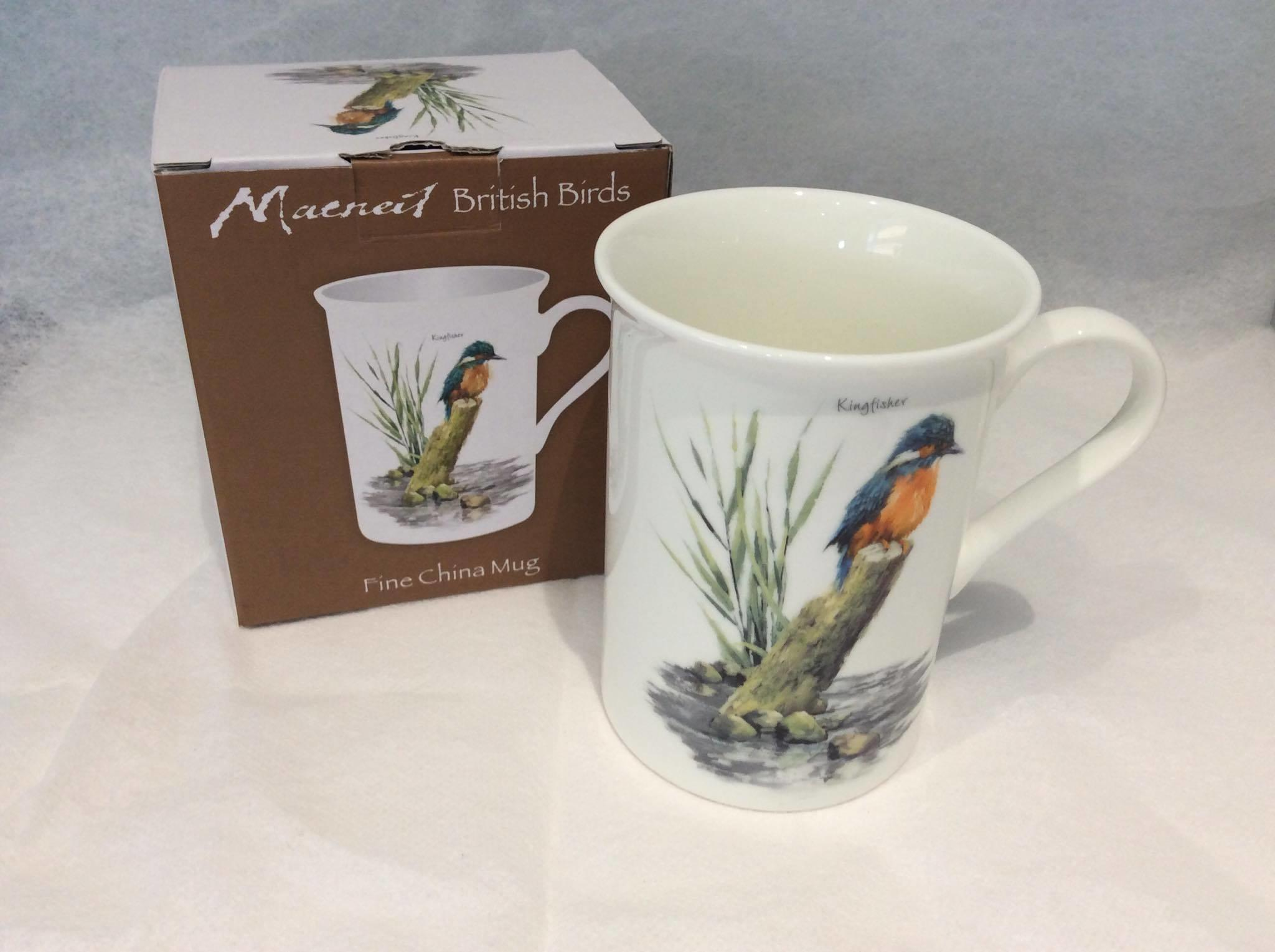 British Wildlife Birds Fine China Mug kingfiher