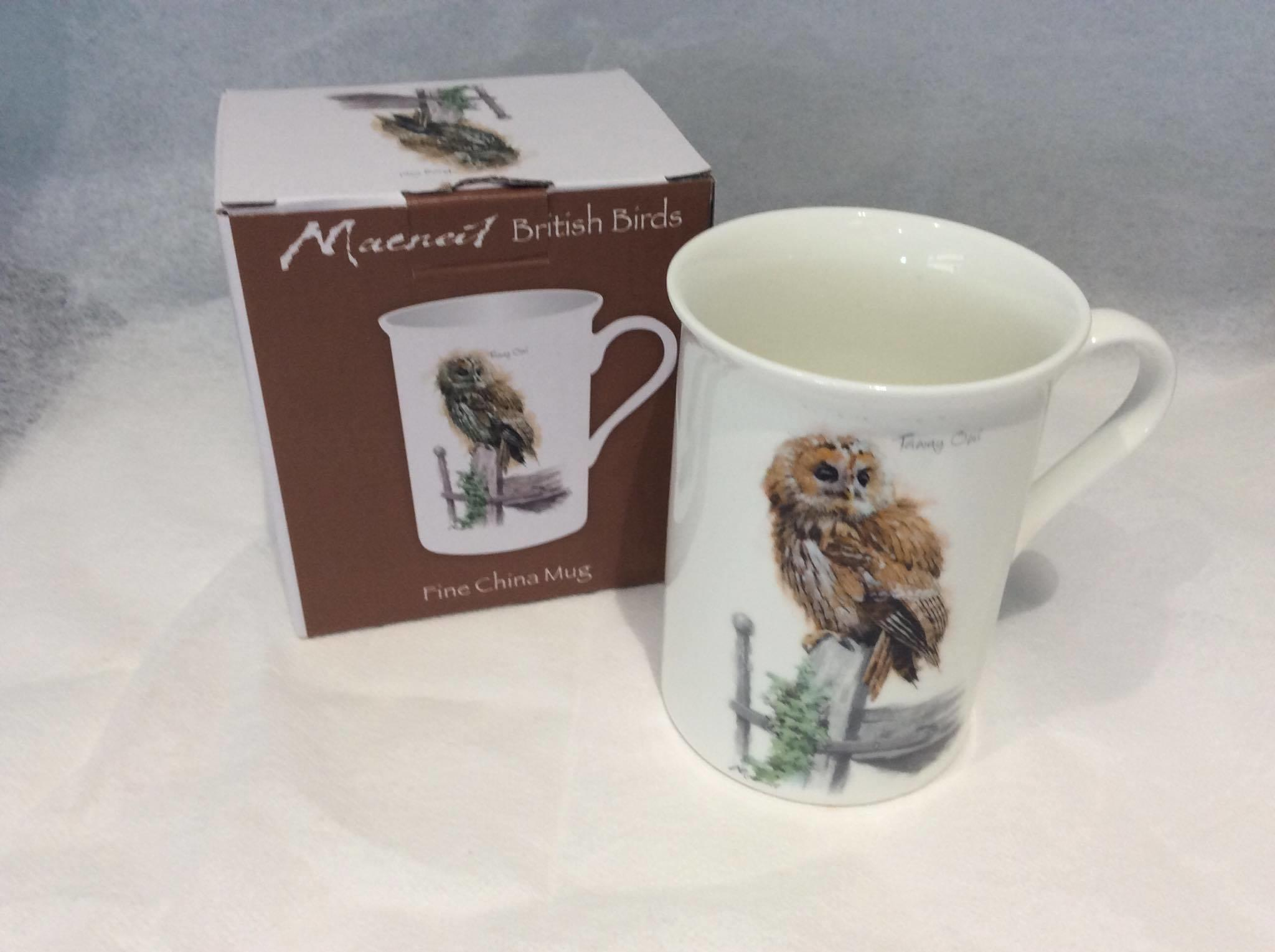 British Wildlife Fine China Mugs tawny owl