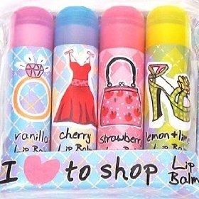I Love to Shop Lip Balm in 4 Fragrances
