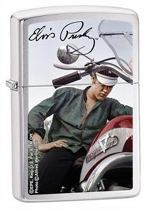 Zippo Lighter Signature Product Elvis Presley with Motorbike